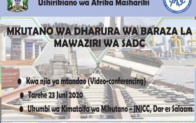 MKUTANO WA DHARULA WA BARAZA LA MAWAZIRI WA SADC